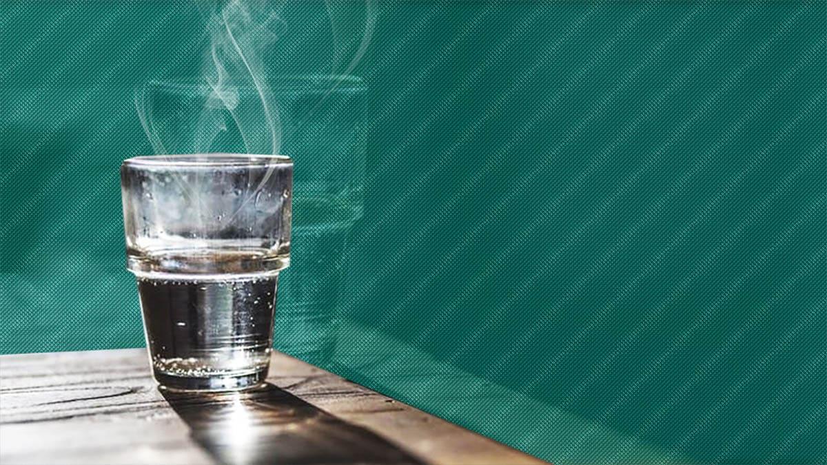 Vaso de agua caliente