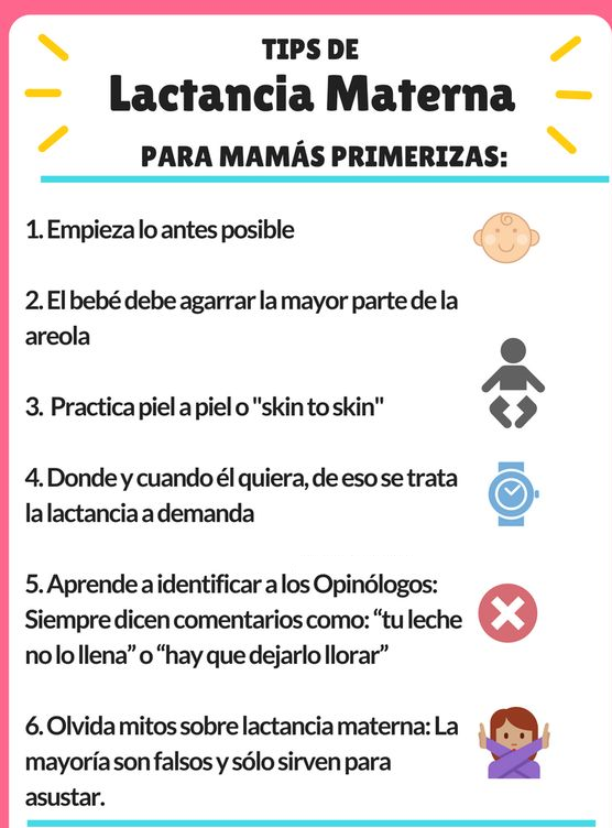 Tips para la lactancia materna