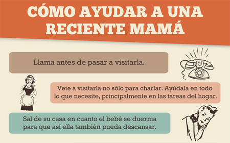 Claves para ayudar a una mamá primeriza