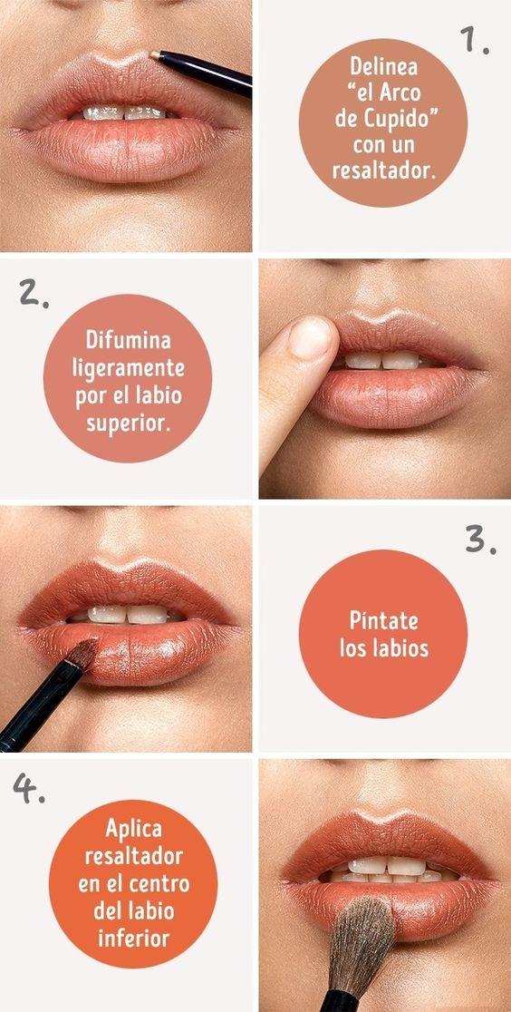 Tips de maquillaje y volumen de labios